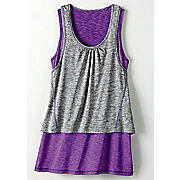 sporty double layer tunic