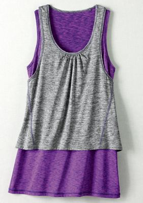 Sporty Double-Layer Tunic