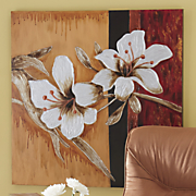 Textured Paint Flowers Wall Art