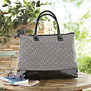 Woven Diamond Travel Tote