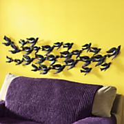 flock of birds wall art