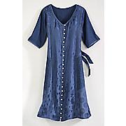 lillian button front dress
