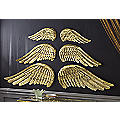 Set of 2 Metal Small Angel Wing Decoration