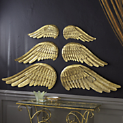 metal angel wing decorations