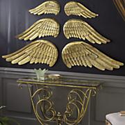 set of 2 metal large angel wing decoration