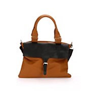 two tone buckle bag