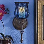 captured glass wall sconce