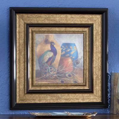 Peacock Serene Framed Art