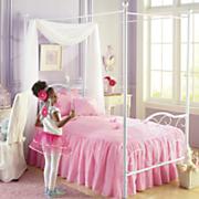swirl canopy bed