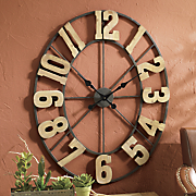 branded iron clock