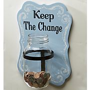 Keep The Change Wall Plaque