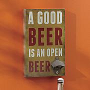 beer bottle opener wall sign