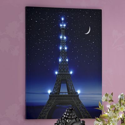 Lighted Eiffel Tower Art