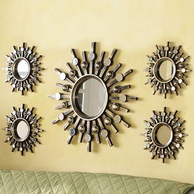 5-Piece Starburst Mirror Set