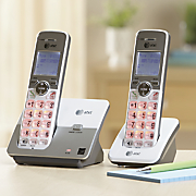 2 handset cordless phone system by at t