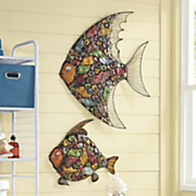 3 d mosiac fish wall decor