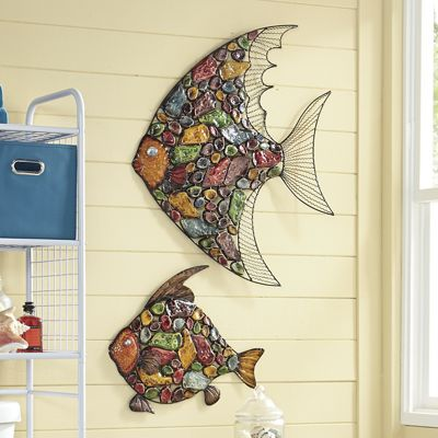 3-D Mosiac Fish Wall Decor