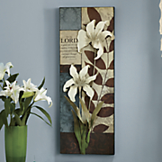 The Lord Is Good Flowered Wall Art