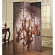 3-Panel Lighted Chandelier Screen