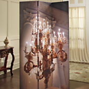 3 panel lighted chandelier screen