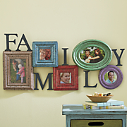 colorful 5 slot family photo holder
