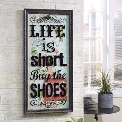 Life Is Short Wall Art