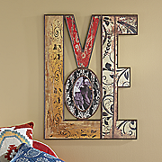 "Distressed ""Love"" Wall Photo Frame"