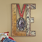 distressed  love  wall photo frame