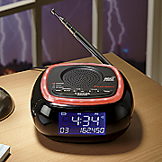 AM/FM Weather Band Clock Radio with S.A.M.E. Weather Alert by First Alert