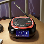 am fm weather band clock radio with s a m e  weather alert by first alert