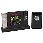 radio controlled weather station alarm clock by first alert