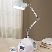 adjustable robot speaker lamp with bluetooth and alarm clock