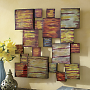 Painted Cube Metal Wall Art