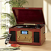 nostalgic cd recorder with turntable by encore