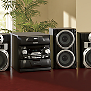 5 cd changing stereo system with subwoofer and bluetooth by rca