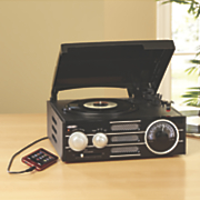 3-Speed Stereo Turntable with Am/Fm Radio by Jensen