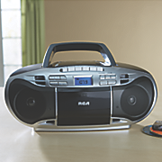 cd boom box with cassette player by rca