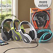 collapsible headphones with bluetooth by sharper image