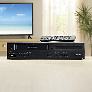 dual vhs dvd player by philips