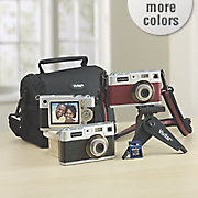 18 1 mp retro digital camera with bundle by polaroid