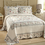 Audrina Embroidered Bedspread and Sham