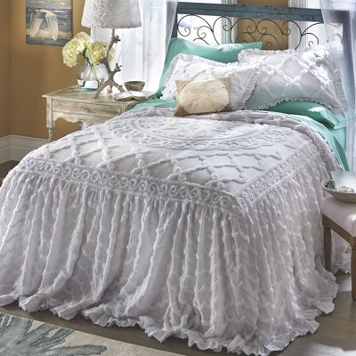 Angelica Ruffle Chenille Bedspread From Through The