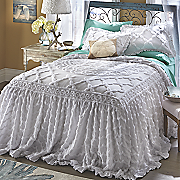 Angelica Ruffle Chenille Bedspread and Sham