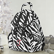 personalized zebra backpack