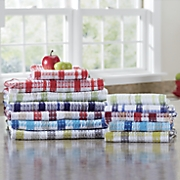 12 pc  assorted waffle weave towel set