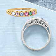 i love you family birthstone ring