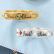 birthstone name band