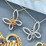 butterfly birthstone necklace