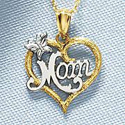 heart mom pendant