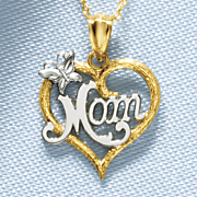 heart mom pendant